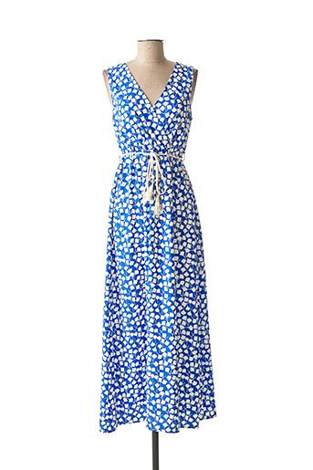 Robe longue bleu BY ONE pour femme