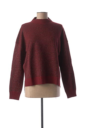 Pull col cheminée rouge MOLLY BRACKEN pour femme