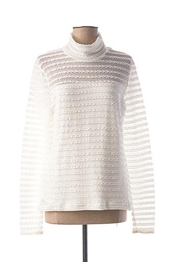 T-shirt manches longues blanc ONE STEP pour femme