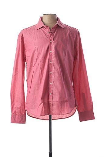 Chemise manches longues rose STONES pour homme