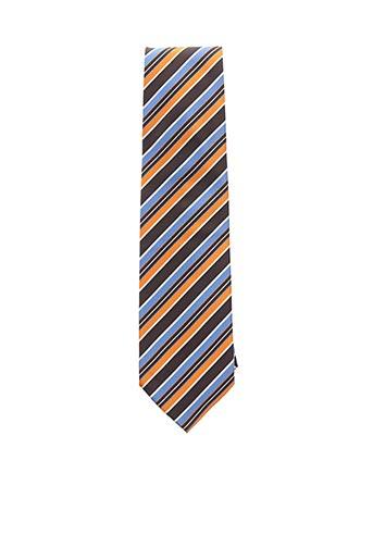 Cravate jaune DANIEL VALENTE pour homme