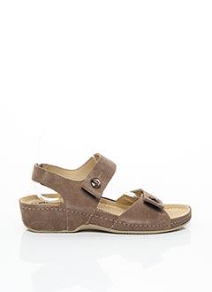 Sandales/Nu pieds beige ROHDE pour femme