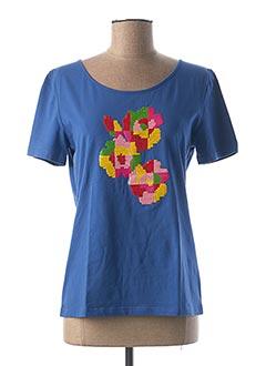T-shirt manches courtes bleu ANANKE pour femme
