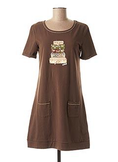 Robe courte marron ANANKE pour femme
