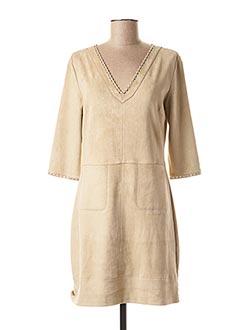 Robe mi-longue beige FUEGO WOMAN pour femme