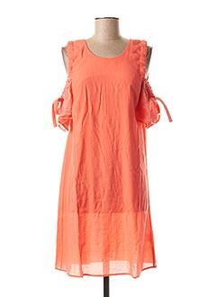 Robe mi-longue orange EVA KAYAN pour femme