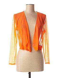 Gilet manches longues orange 3322 pour femme