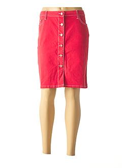 Jupe mi-longue rouge ANANKE pour femme