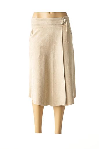 Jupe mi-longue beige FUEGO WOMAN pour femme