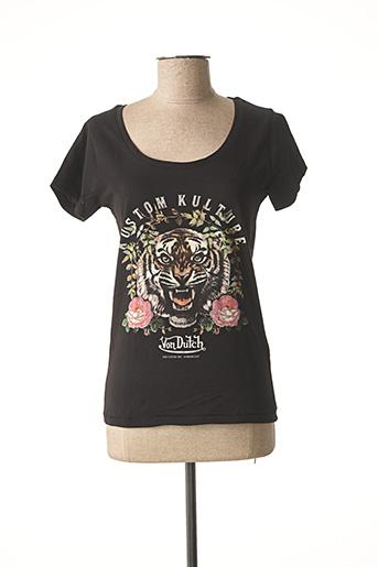 T-shirt manches courtes noir VON DUTCH pour femme