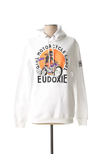 Sweat-shirt blanc EUDOXIE pour femme