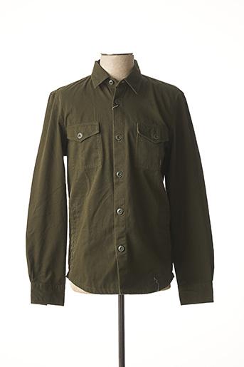 Chemise manches longues vert BARBOUR pour homme