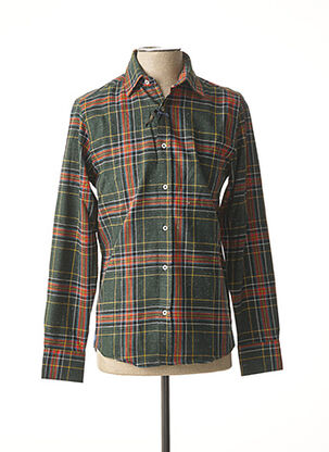 Chemise manches longues vert RECYCLED ART WORLD pour homme