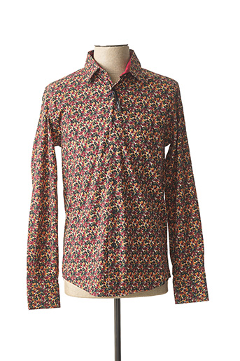Chemise manches longues rouge RECYCLED ART WORLD pour homme
