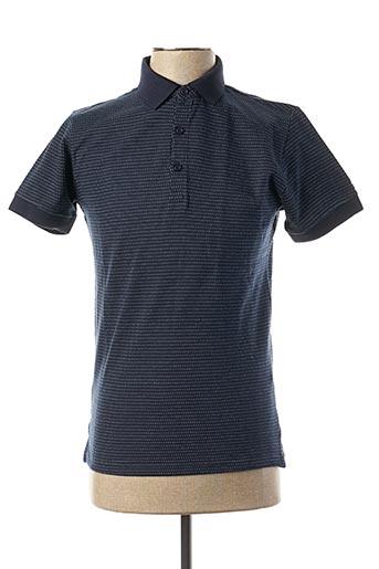 Polo manches courtes bleu TEDDY SMITH pour homme