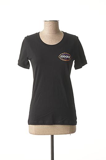 T-shirt manches courtes noir EUDOXIE pour femme