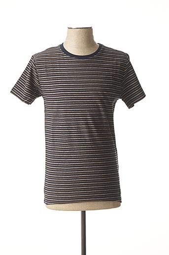 T-shirt manches courtes bleu TEDDY SMITH pour homme