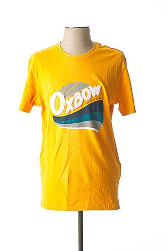 T-shirt manches courtes jaune OXBOW pour homme