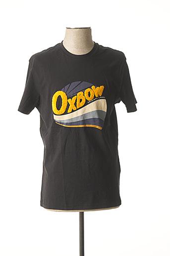T-shirt manches courtes noir OXBOW pour homme