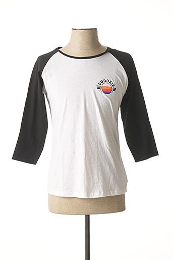 T-shirt manches longues blanc EUDOXIE pour femme