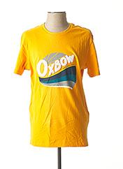T-shirt manches courtes jaune OXBOW pour homme seconde vue