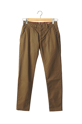 Pantalon casual beige RECYCLED ART WORLD pour homme