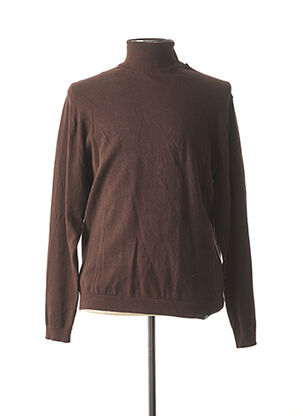 Pull col roulé violet RECYCLED ART WORLD pour homme