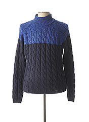 Pull col cheminée bleu RECYCLED ART WORLD pour homme seconde vue