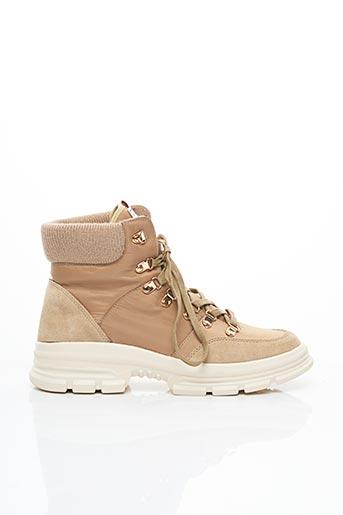 Bottines/Boots beige LES TROPEZIENNES PAR M.BELARBI pour femme