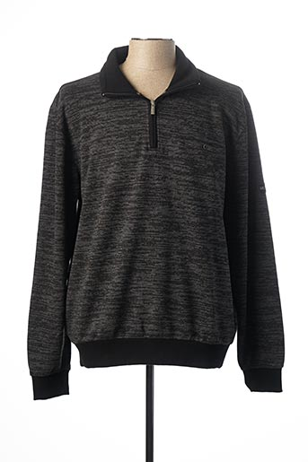Sweat-shirt noir MONTE CARLO pour homme
