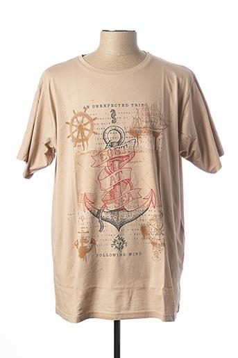 T-shirt manches courtes beige MAXFORT pour homme