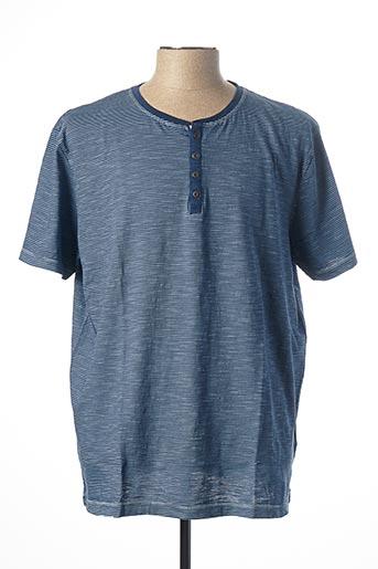 T-shirt manches courtes bleu KITARO pour homme