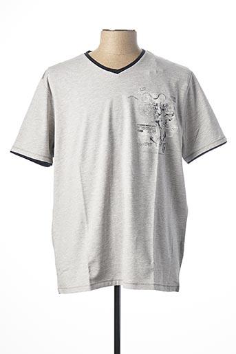 T-shirt manches courtes gris MONTE CARLO pour homme