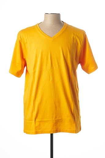 T-shirt manches courtes jaune KITARO pour homme