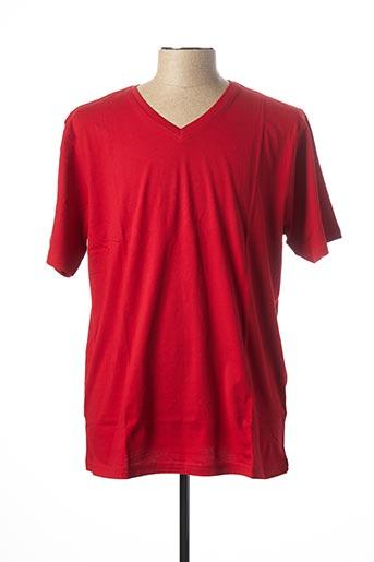 T-shirt manches courtes rouge KITARO pour homme