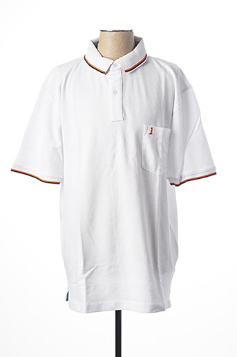 Polo manches courtes blanc NOTHING pour homme