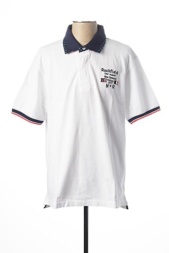 Polo manches courtes blanc RUCKFIELD pour homme