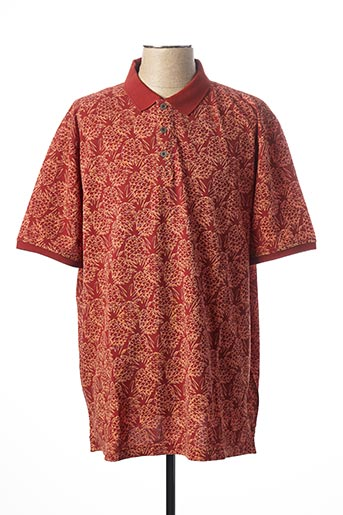Polo manches courtes orange CASAMODA pour homme