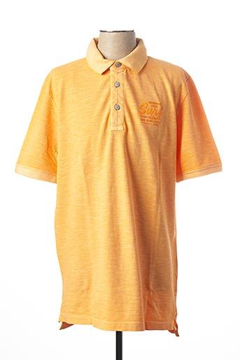 Polo manches courtes orange KITARO pour homme