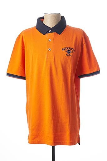 Polo manches courtes orange RUCKFIELD pour homme