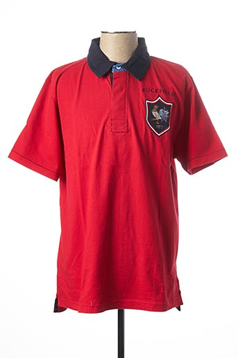 Polo manches courtes rouge RUCKFIELD pour homme