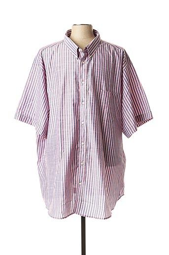 Chemise manches courtes rose BELLONI pour homme