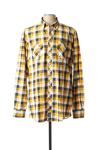 Chemise manches longues jaune CASAMODA pour homme