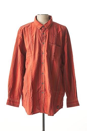 Chemise manches longues orange MONTE CARLO pour homme