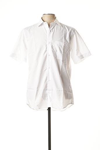 Chemise manches courtes blanc BELLONI pour homme