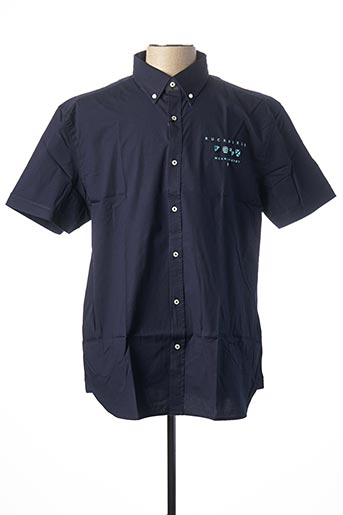 Chemise manches courtes bleu RUCKFIELD pour homme
