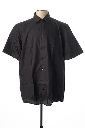 Chemise manches courtes noir CASAMODA pour homme