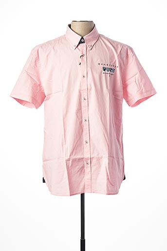 Chemise manches courtes rose RUCKFIELD pour homme