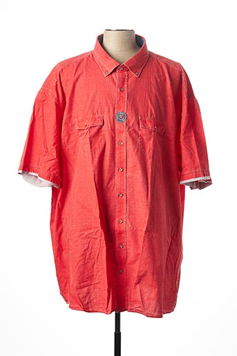 Chemise manches courtes rouge CASAMODA pour homme