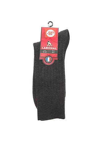 Chaussettes gris LABONAL pour homme